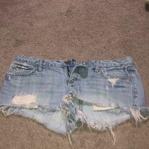 A&F denim jean shorts